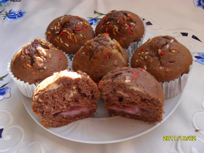 Csokis, pudingos muffin