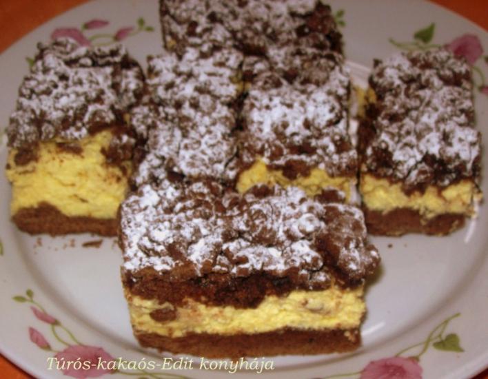 Túrós-kakaós sütemény