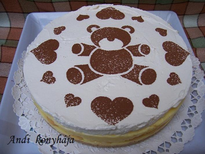 Gesztenyés, pudingos torta