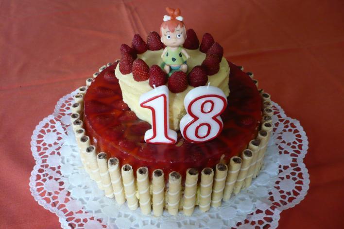 Emeletes epertorta, Szabina lányom 18. születésnapjára