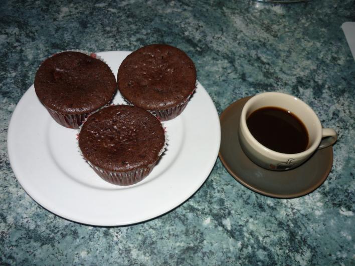 Meggyes-csokoládés muffin