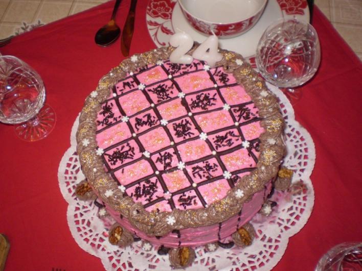Csokis-puncsos torta