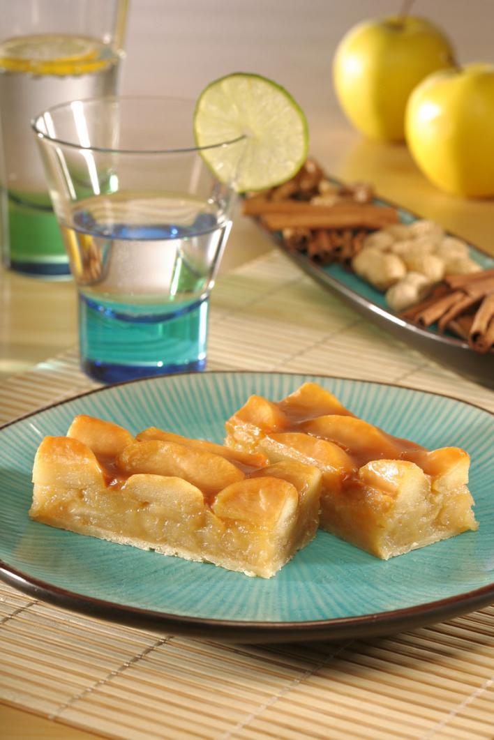 Karamellás almás pite