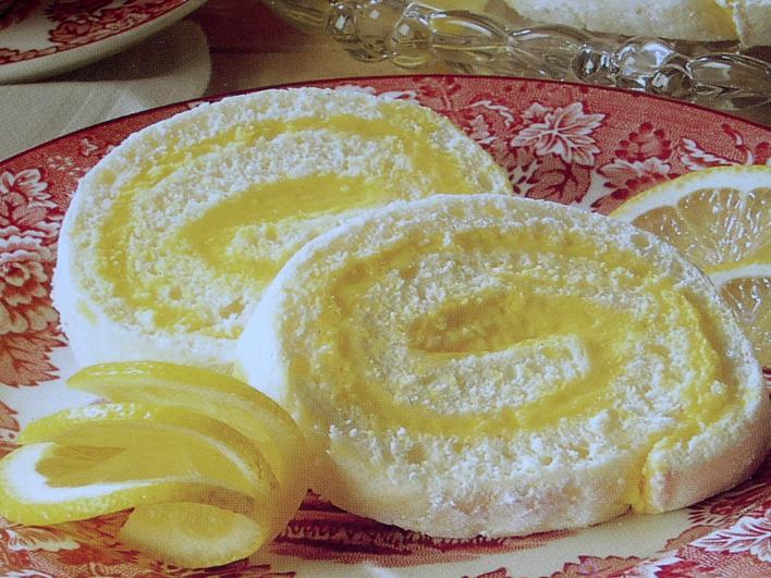 Frissítő citromtekercs