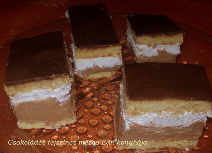 Csokoládés-tejszínes mézes