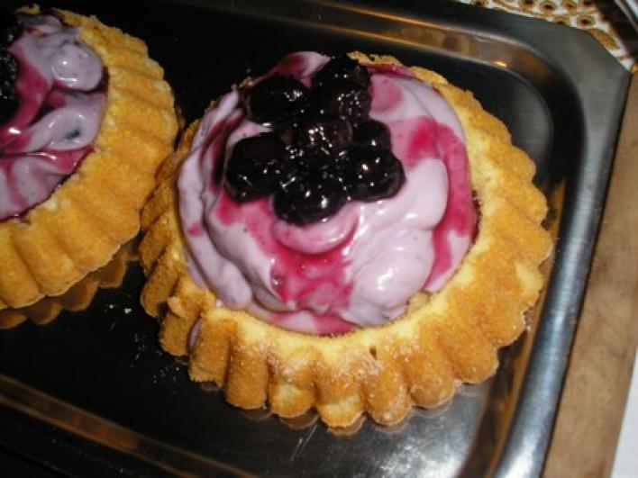 Áfonyás tortácska