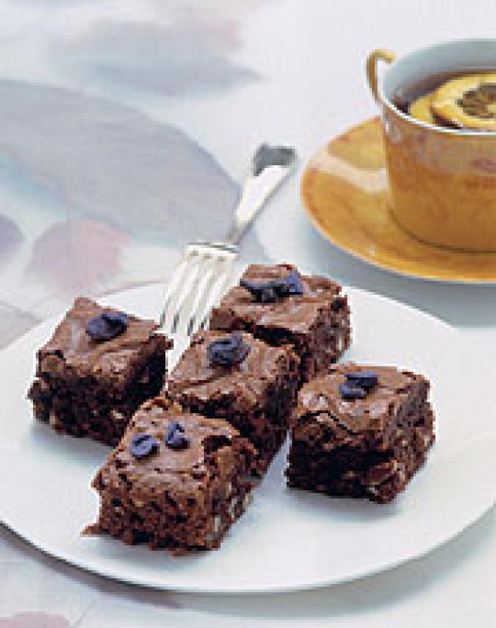 Mandulás, gesztenyés brownie