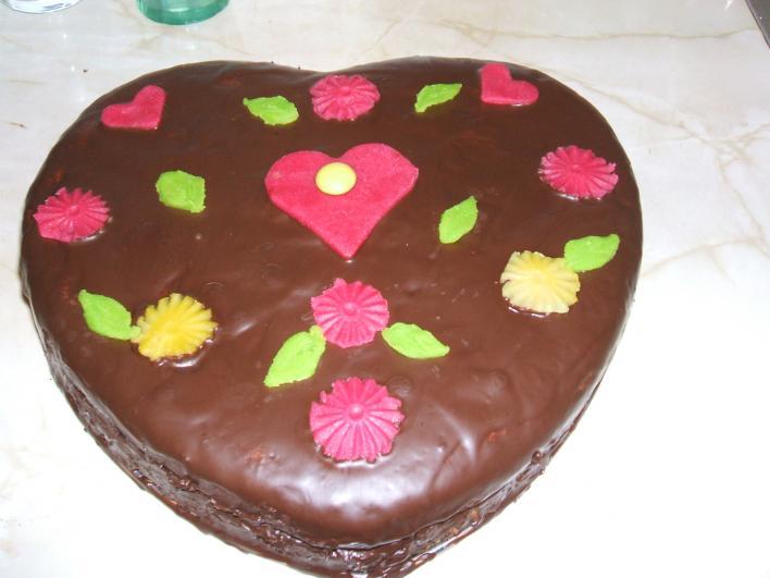Szív torta