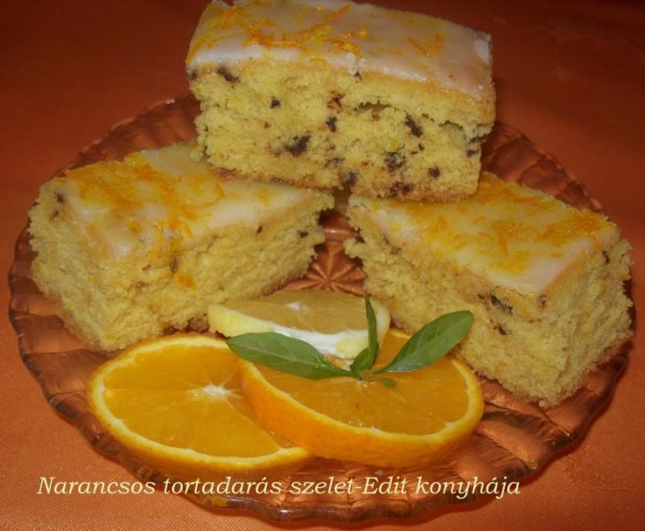 Narancsos, tortadarás szelet