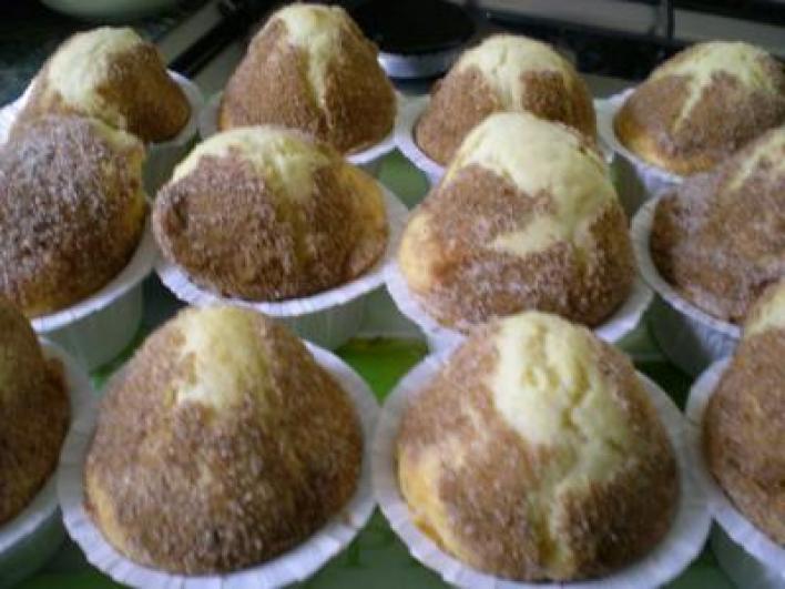 Cukros-fűszeres muffin