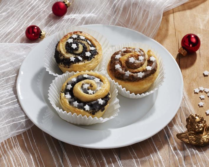 Mákos és diós bejgli muffin
