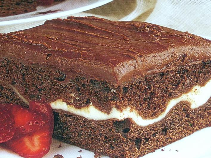 Csokoládés sütemény túrókrémmel