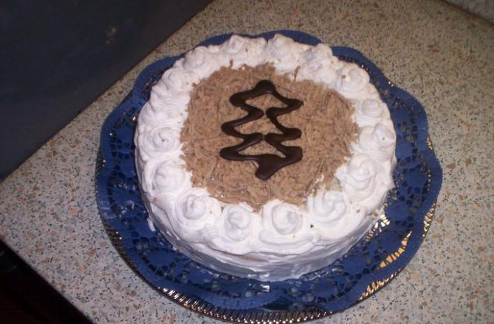 Karácsonyi gesztenyés torta