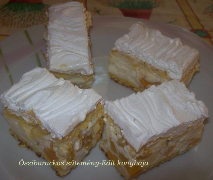 Őszibarackos sütemény