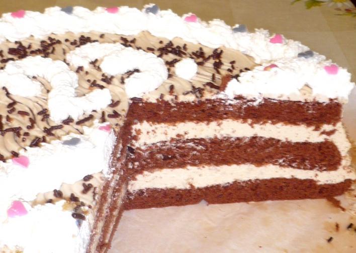 Tejszínes-kávés torta