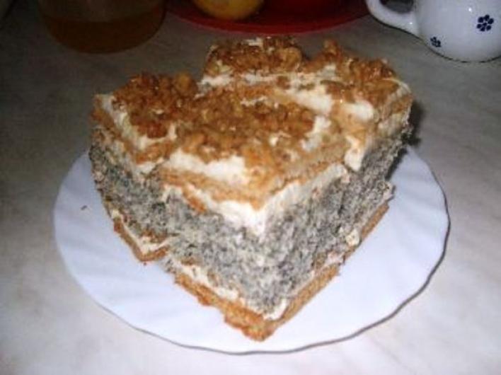 Francia mákos sütemény