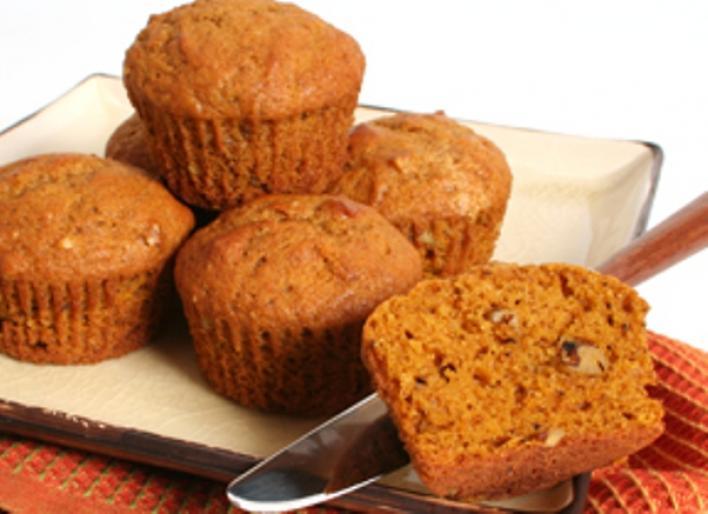 Tökös-mogyorós muffin