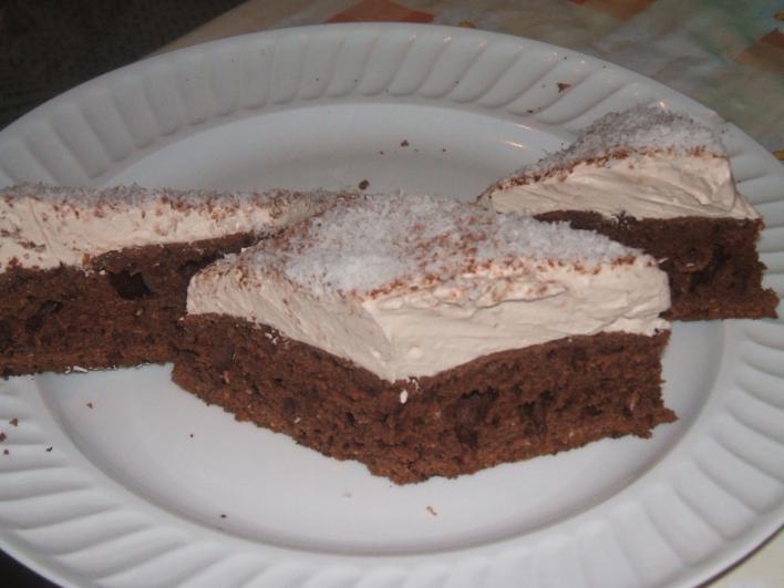 Csokis, tejszínes süti