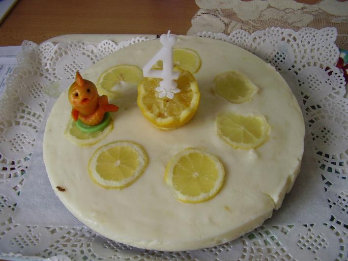 Joghurtos citromtorta