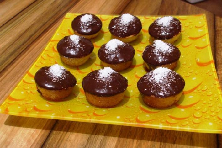Csokoládés-kókuszos muffin
