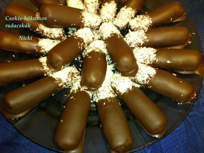 Csokis-kókuszos rudacskák