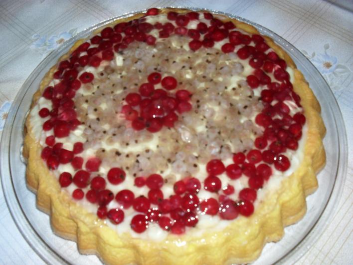Kétszínű ribizlis torta